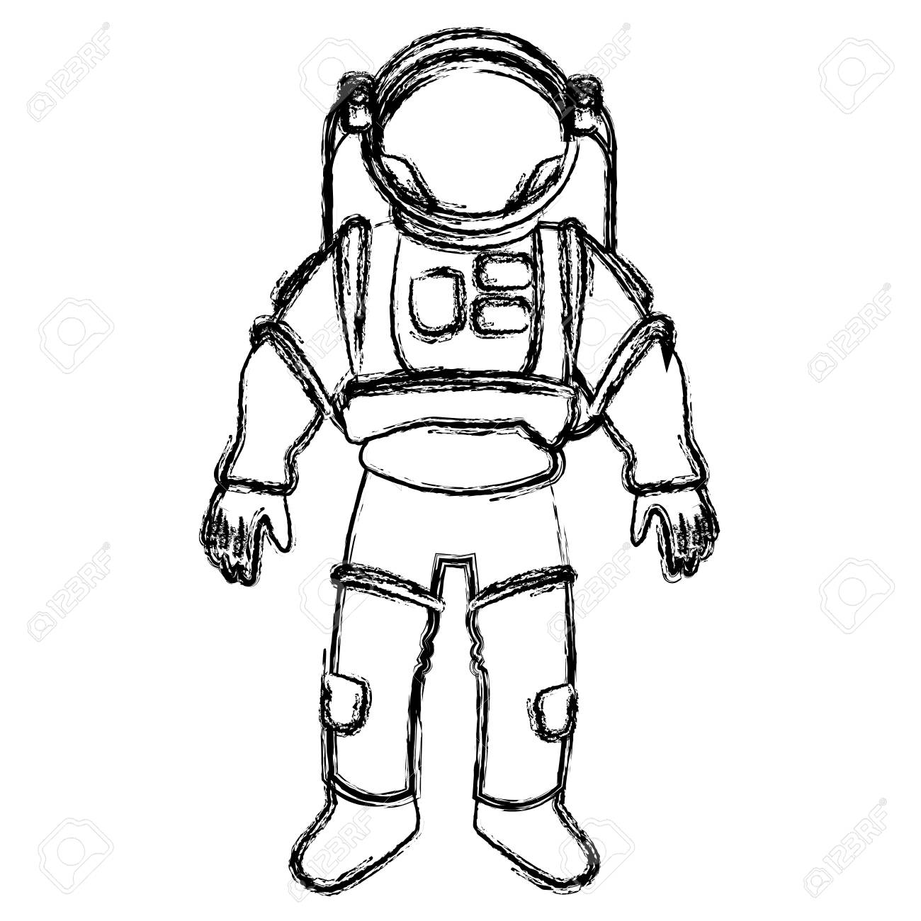 Astronaut Drawing at GetDrawings.com | Free for personal ...