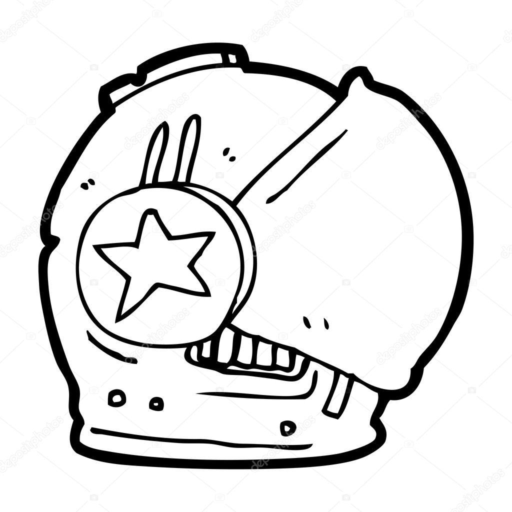 1024x1024 Cartoon Astronaut Helmet Stock Vector Lineartestpilot