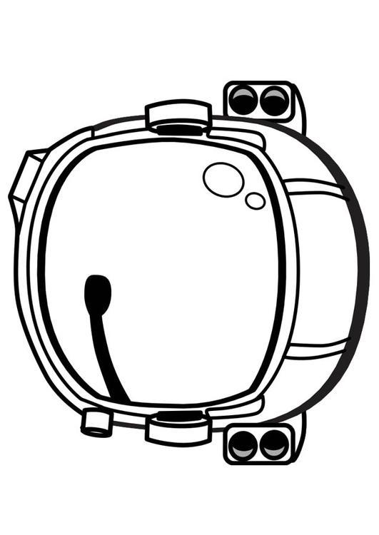 531x750 Coloring Page Astronaut Helmet