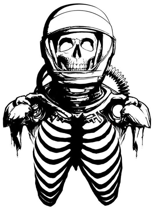 528x720 Dead Astronaut Love Skulls