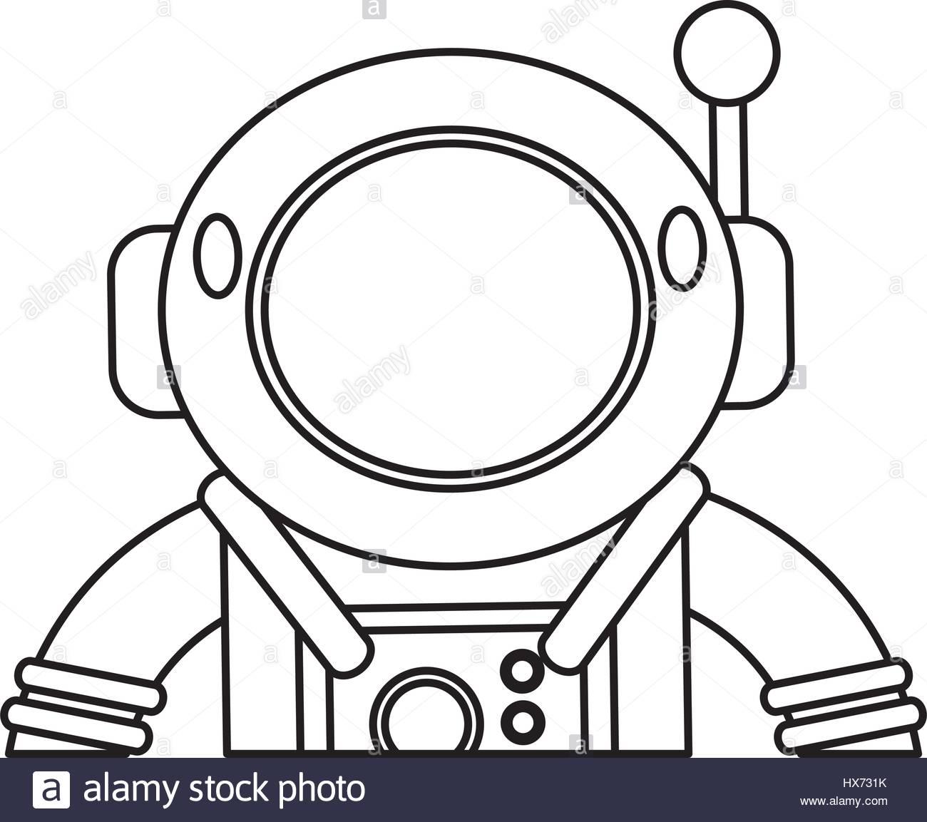 1300x1153 Astronaut Suit Helmet Space Outline Stock Vector Art