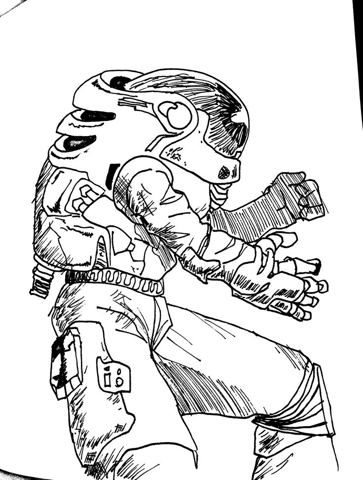 Astronaut Line Drawing