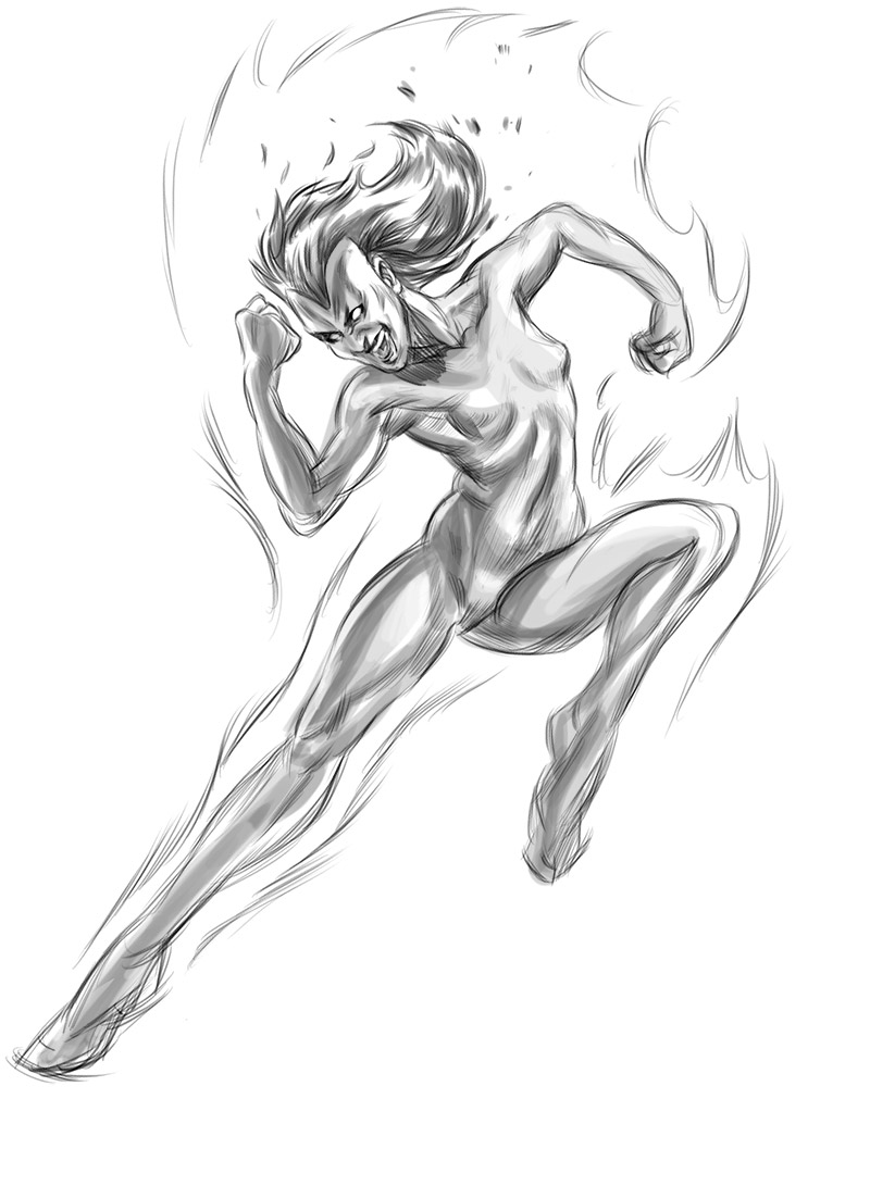800x1091 Let's Animate Nova (Fantastic Four) Sketch + Jim Lee Studies
