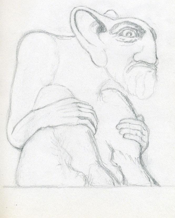 665x829 Simple Demon Drawings