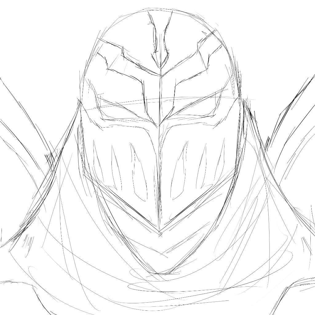 1024x1024 Zed Sketch League Of Legends