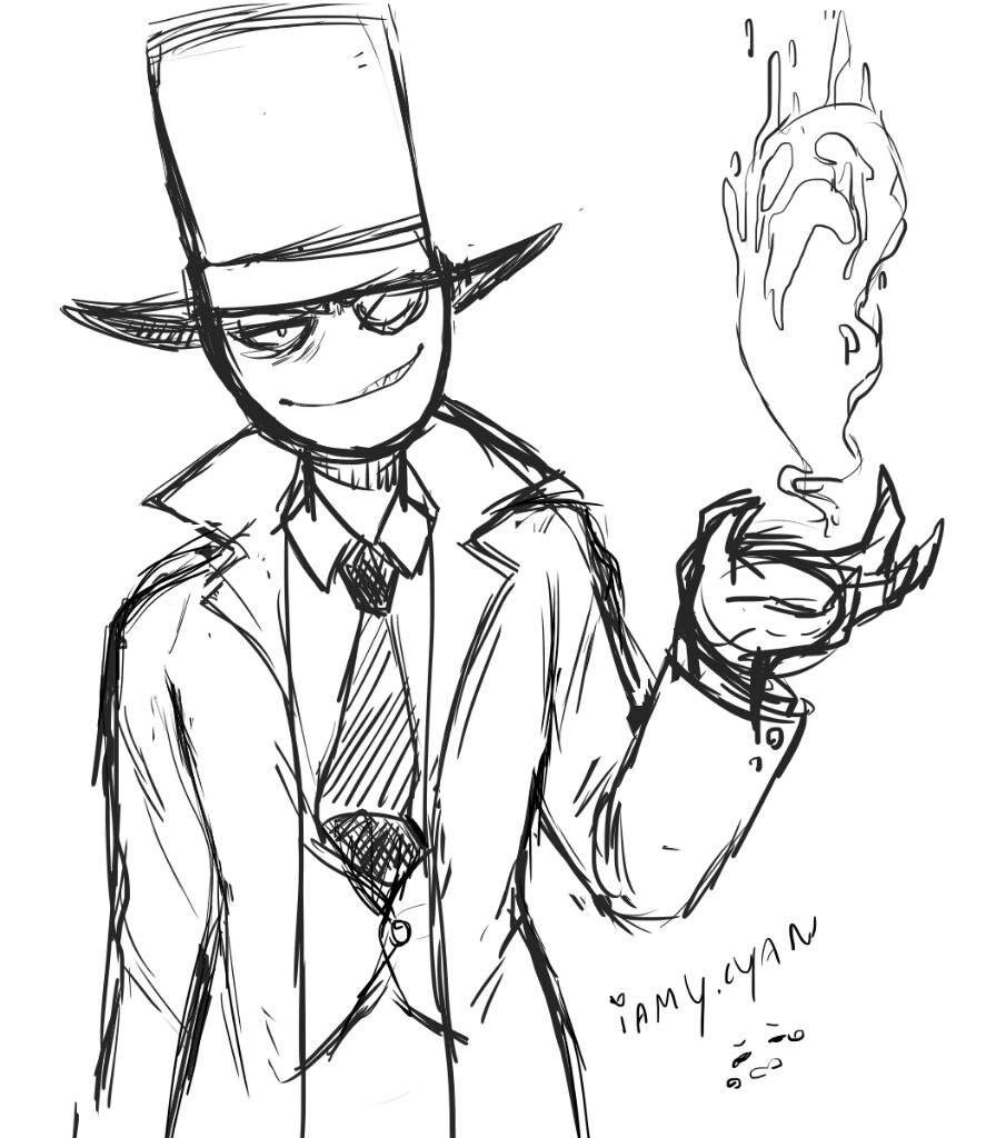 896x1024 Black Hat Fanart Villainous! Amino