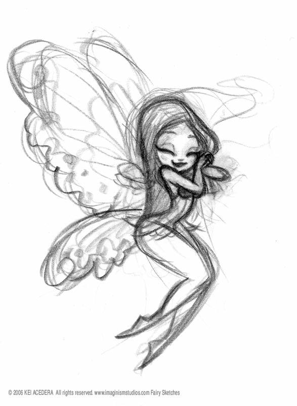 587x800 Cute Fairy Drawing