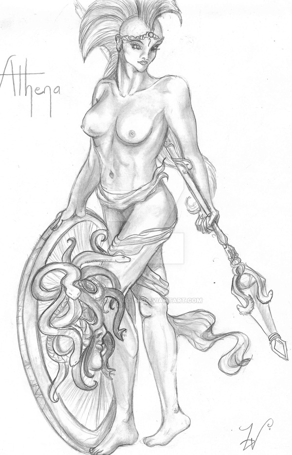 Athena Goddess Drawing At Getdrawings Com Free For Personal Use