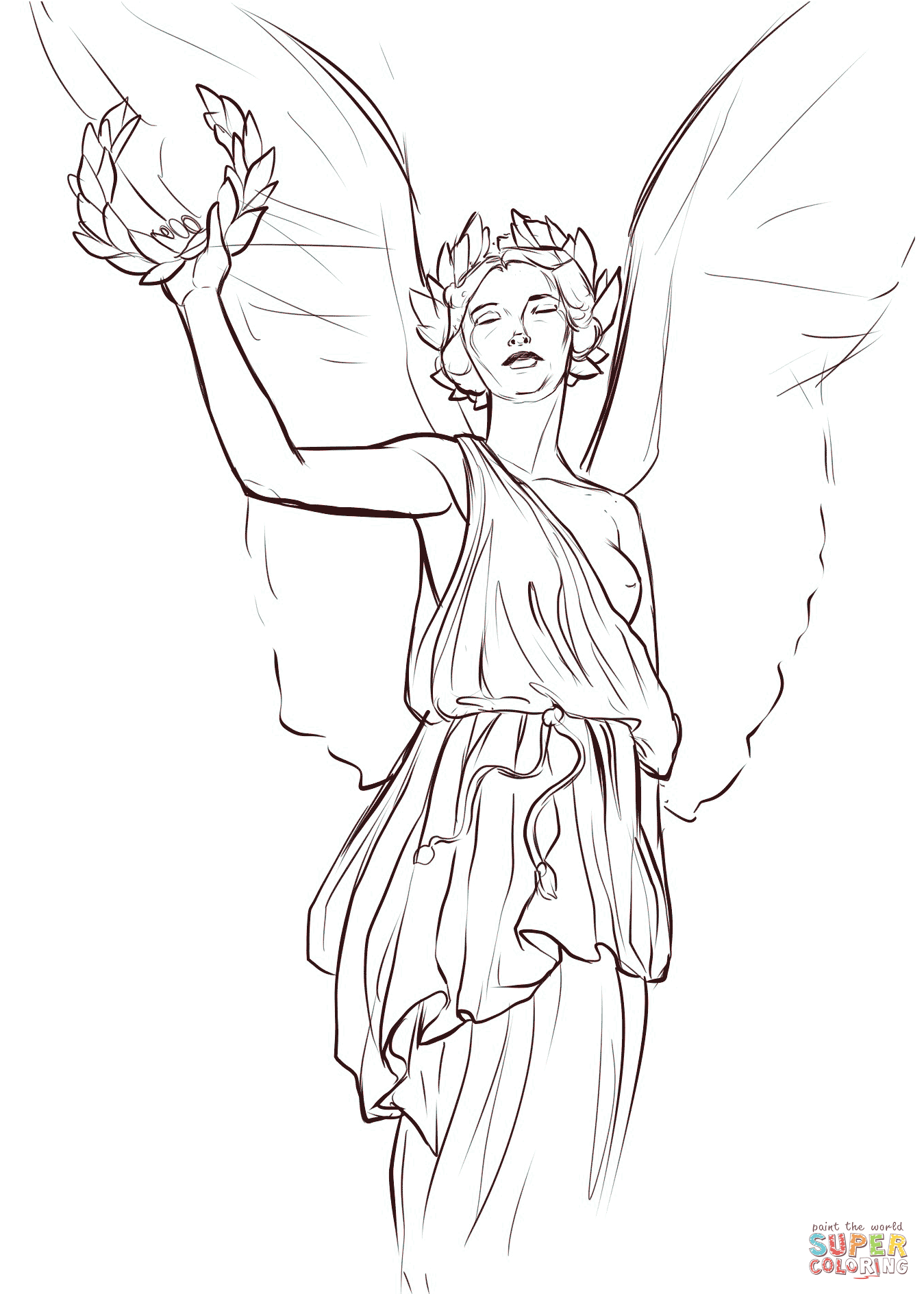 1349x1888 Nike Goddess Of Victory Coloring Page Free Printable Coloring Pages
