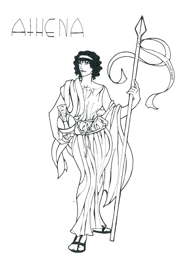 Athena greek goddess drawing at free for for Greek flag coloring page