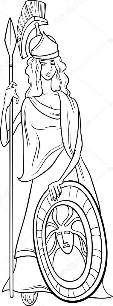 Athena Greek Goddess Drawing At Getdrawings Free For Personal