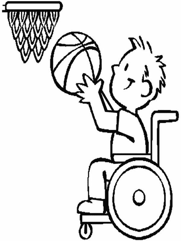 600x799 Disability, Disability Basketball Athlete Coloring Page Ma