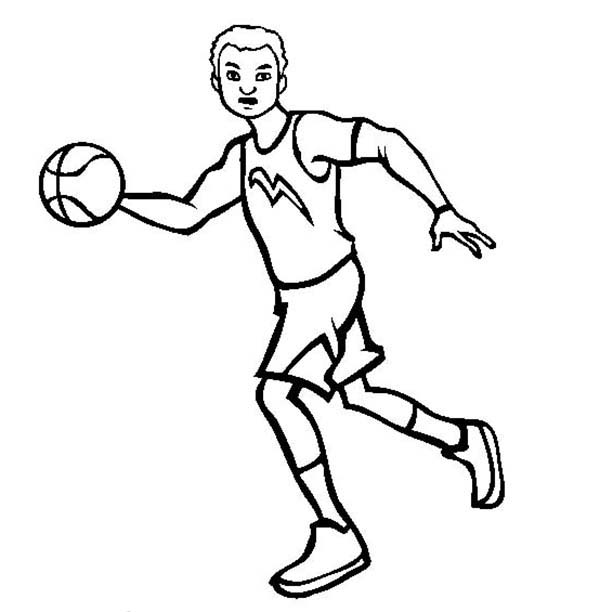 600x612 Athlete Coloring Pages