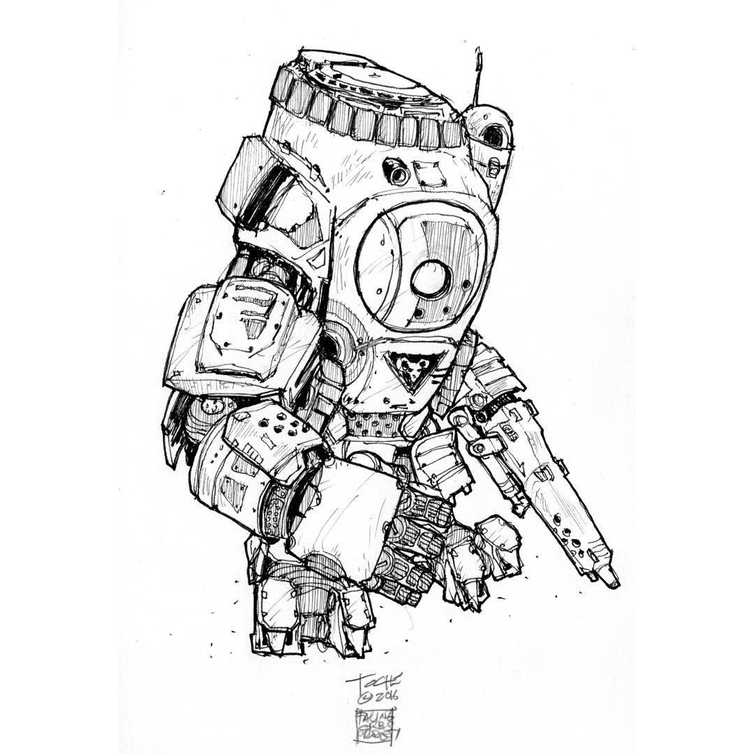 Atlas Titan Drawing