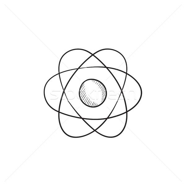 600x600 Atom Sketch Icon. Vector Illustration Andrei Krauchuk (Rastudio