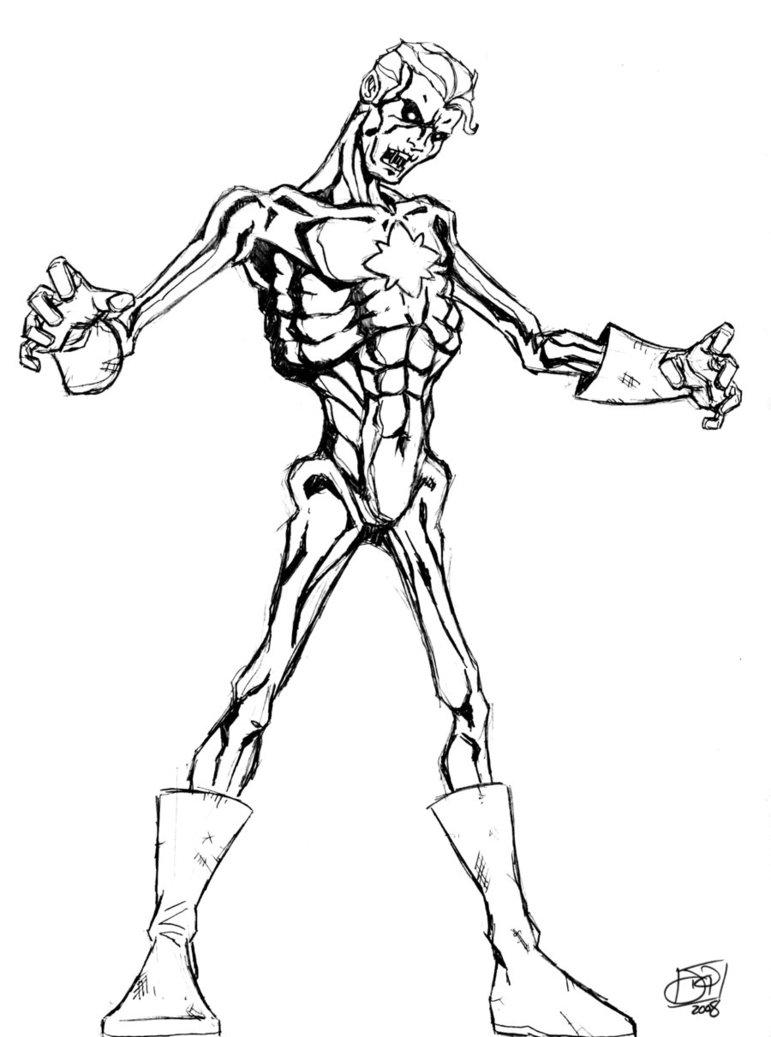 771x1037 Captain Atom Zombie By Kenpudiosaki