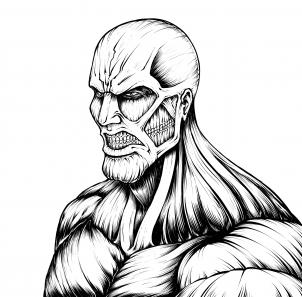 302x297 How To Draw The Colossal Titan, Attack Of Titan How To Draw