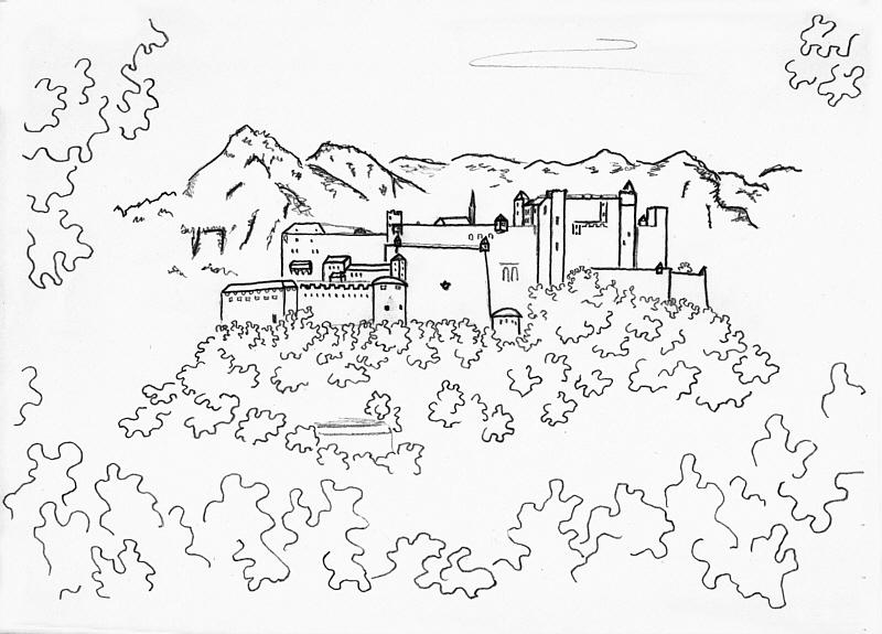 800x575 Salzburg Castle Pencil Drawing Found In The Attic Contemporary