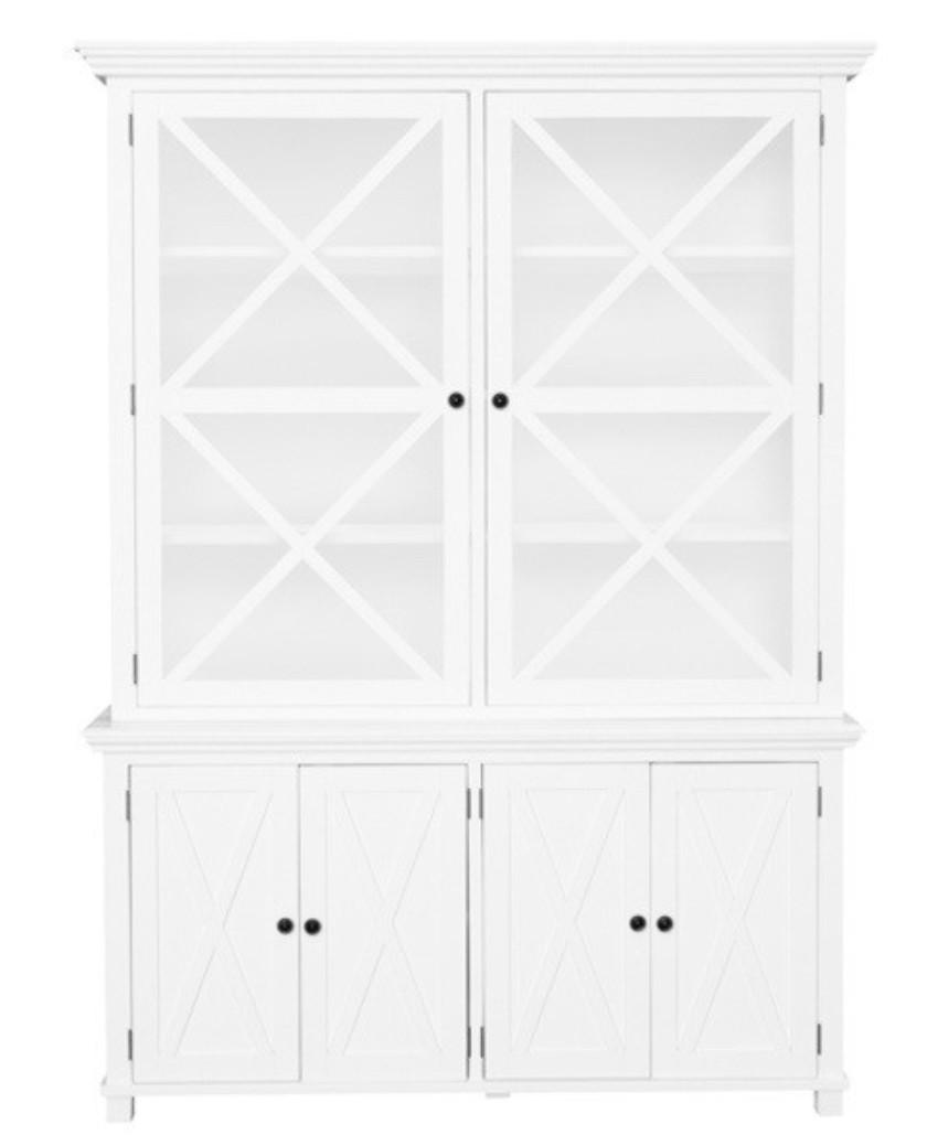 840x1039 Sorrento Criss Cross Glass Door Cabinet