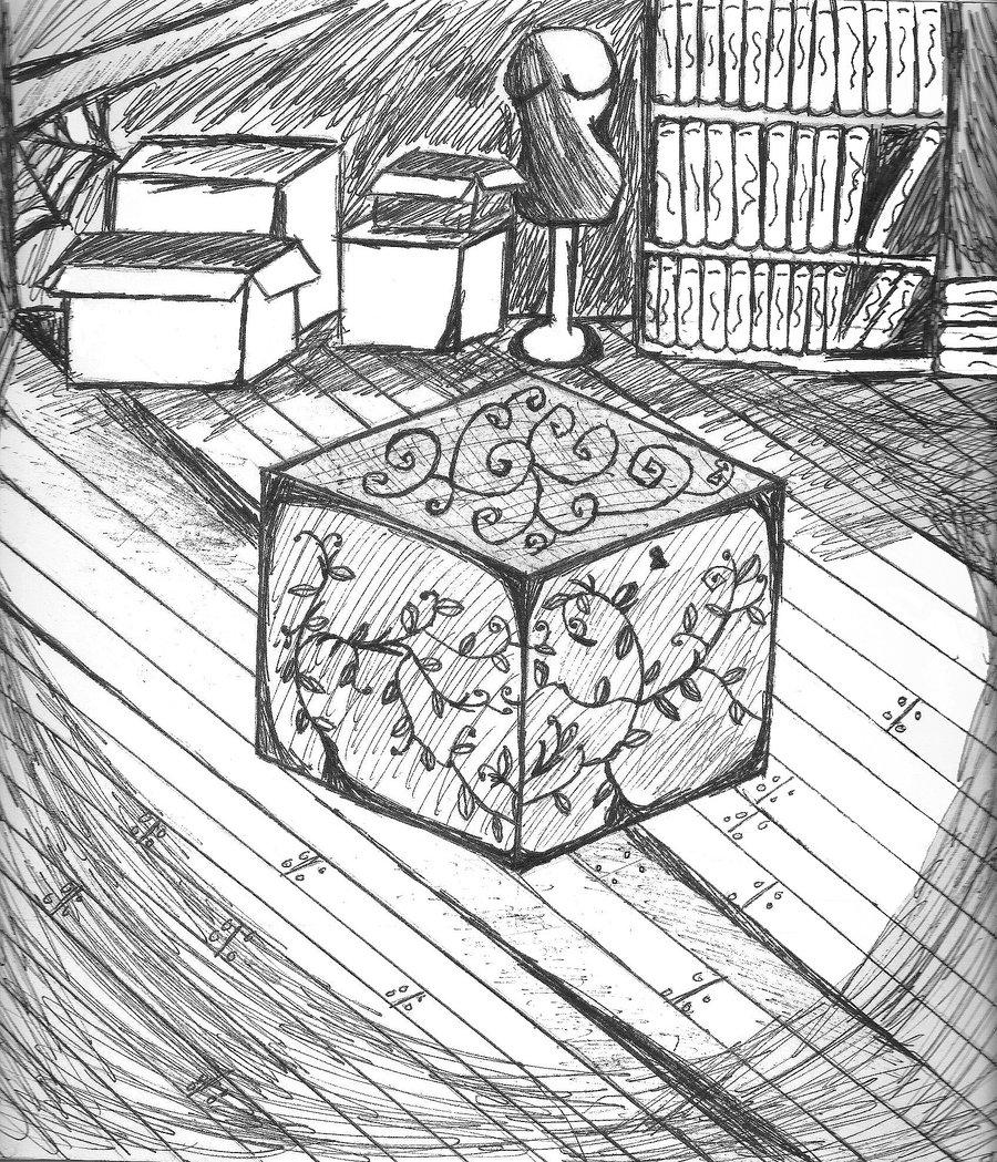 900x1049 Toy Box In The Dark Attic By Amaranthine Eternity