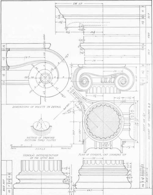 500x635 Attic Ionic Order. Temple On The Ilissus Near Athens Plans