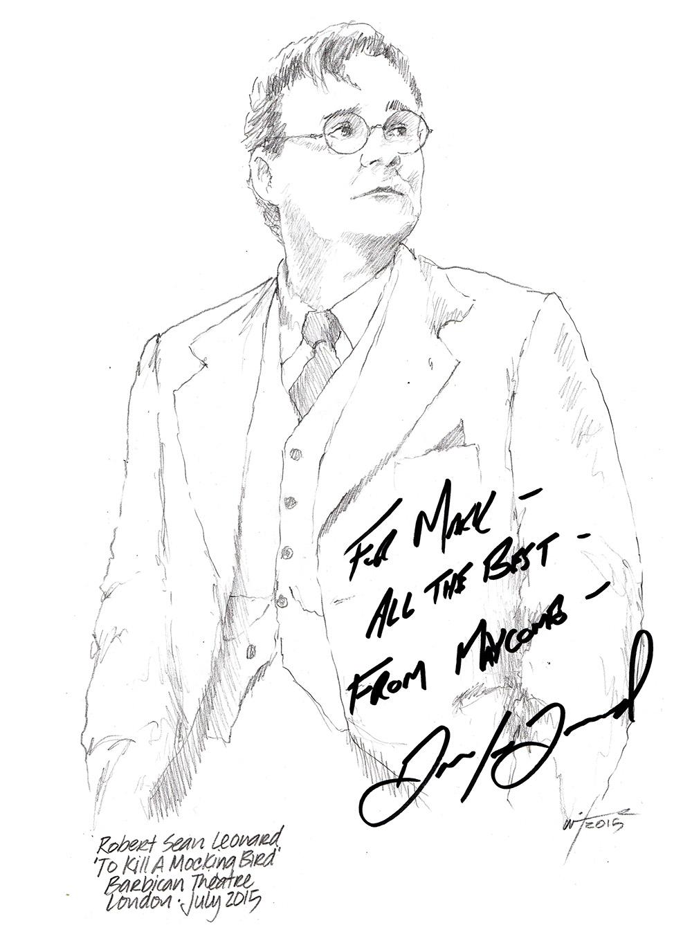 1000x1373 Drawing Robert Sean Leonard In To Kill A Mockingbird