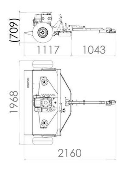 425x558 Rm150 Grass Topper Dimensions Drawing. Atv Paddock Topper