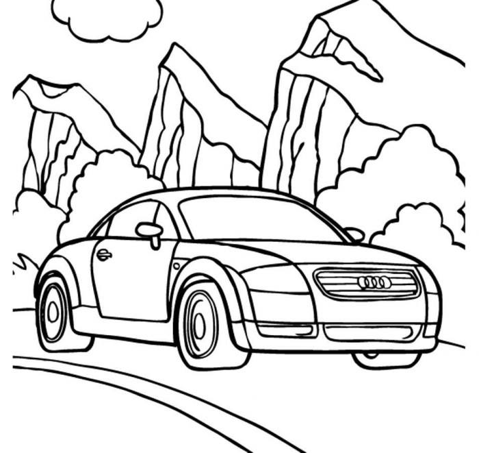 700x661 Audi Tt Coupe Coloring Pages Free Online Cars Coloring Pages