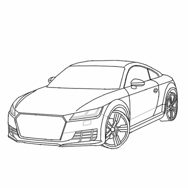 640x640 Sketch Stages Of The Audi Tt My Autodesk Sketchbook Designs