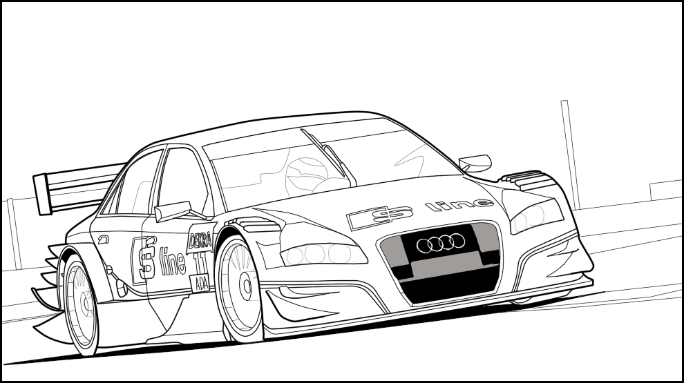 990x555 Audi A4 Dtm Free To Color By Ruhisu