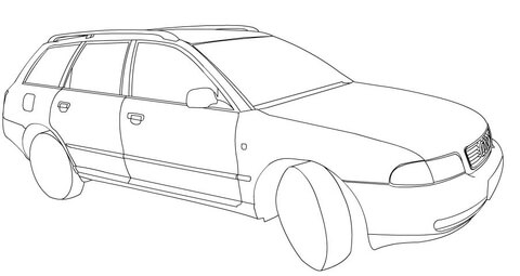 480x255 Audi A4 Coloring Page Free Printable Coloring Pages
