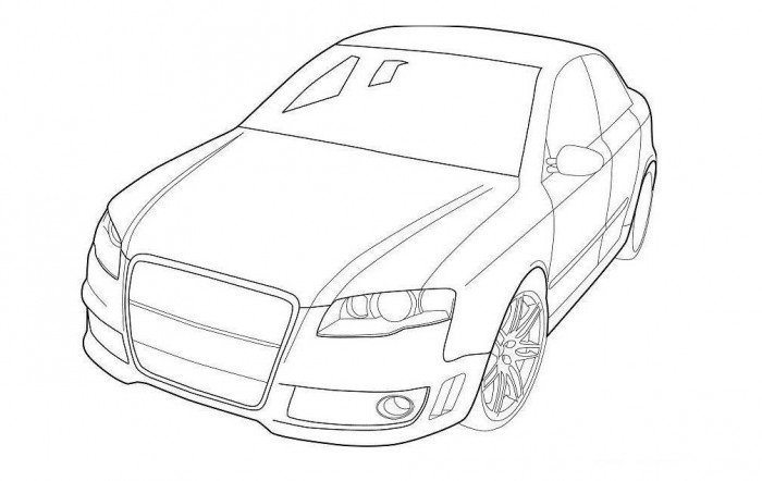 700x442 Audi Coloring Pages Kids Free Online Cars Coloring Pages