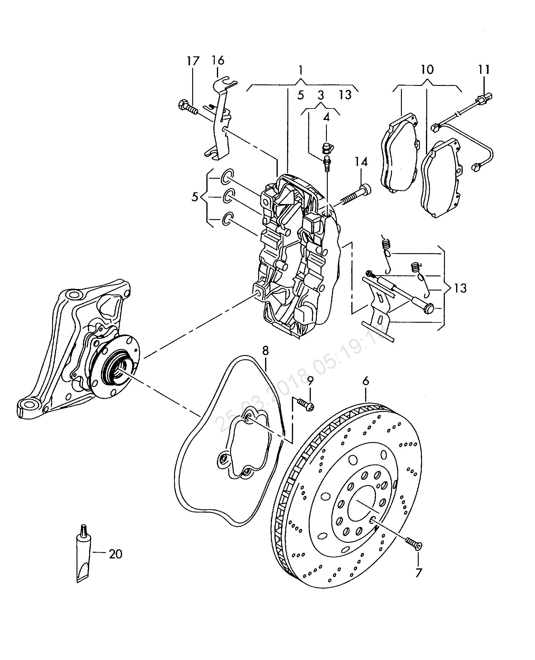 1776x2190 Fixed Calliper Brake Brake Caliper Housing Ceram Audi R8 (R8
