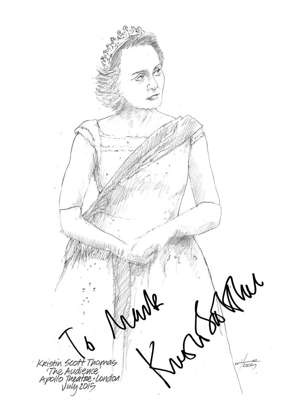 1000x1406 Drawing Kristin Scott Thomas In The Audience Chicanepictures