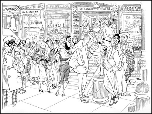 500x376 88 Best Al Hirschfeld Images On Pin Up Cartoons