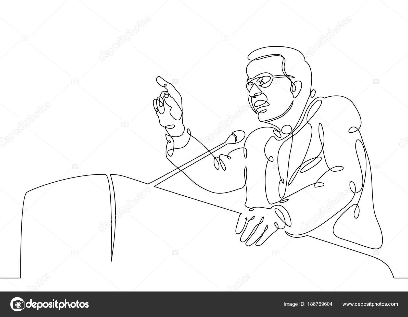 1600x1243 Continuous One Single Line Drawn Character Politics Of Business