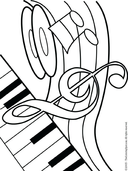 540x720 New Coloring Pages Music Print Musical Theme Audio Stories