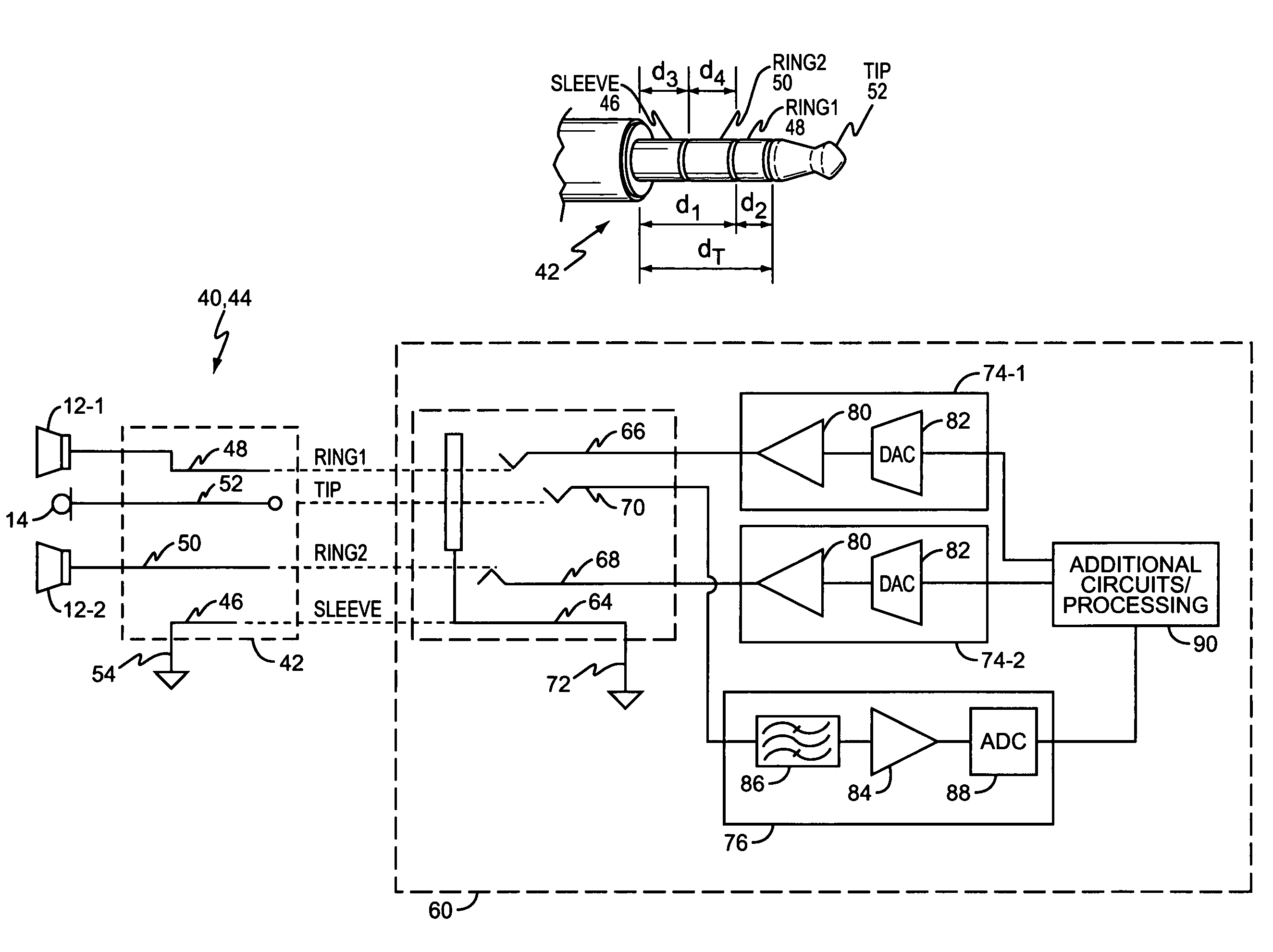 2649x1981 Patent Us4334192 Metal Detector Circuit Having Automatic Tuning