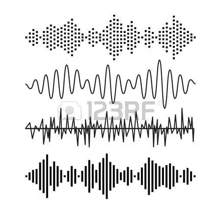 450x450 Set Of Sound Audio Waves Music. Eq Musical Melody Technology