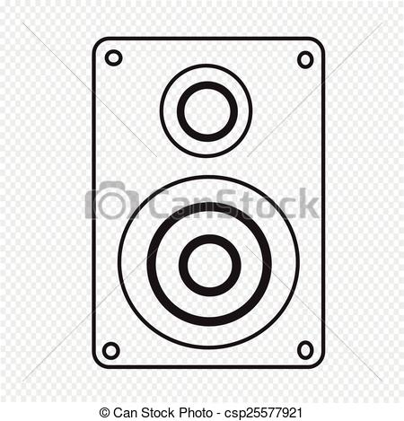 450x469 Audio Speakers Icon Vector Illustration