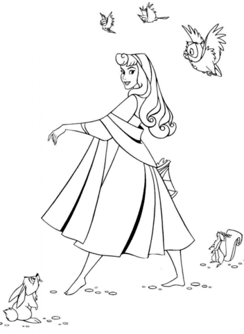 352x480 Beautiful Aurora Coloring Page Free Printable Coloring Pages