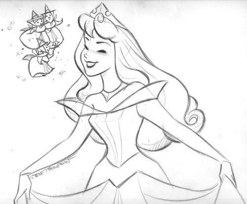 500x414 Princess Aurora Drawing! Step By Step Drawings!