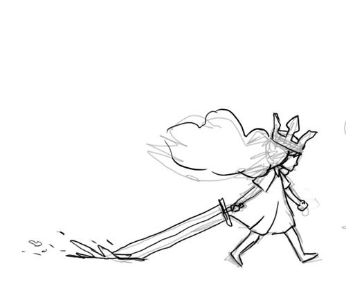 500x427 The First Drawing Of The Final Version Of Aurora Child Of Light