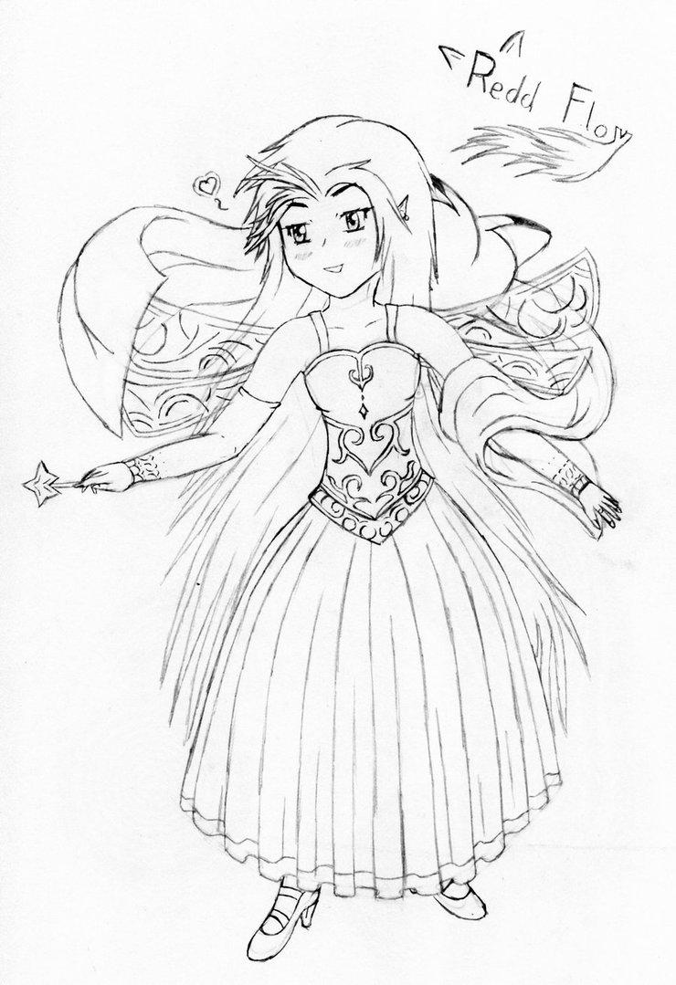 740x1079 Aurora Drawing By Reddfloxy