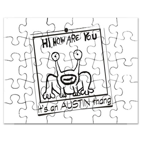460x460 Cartoon Map Austin Texas Puzzles, Cartoon Map Austin Texas Jigsaw