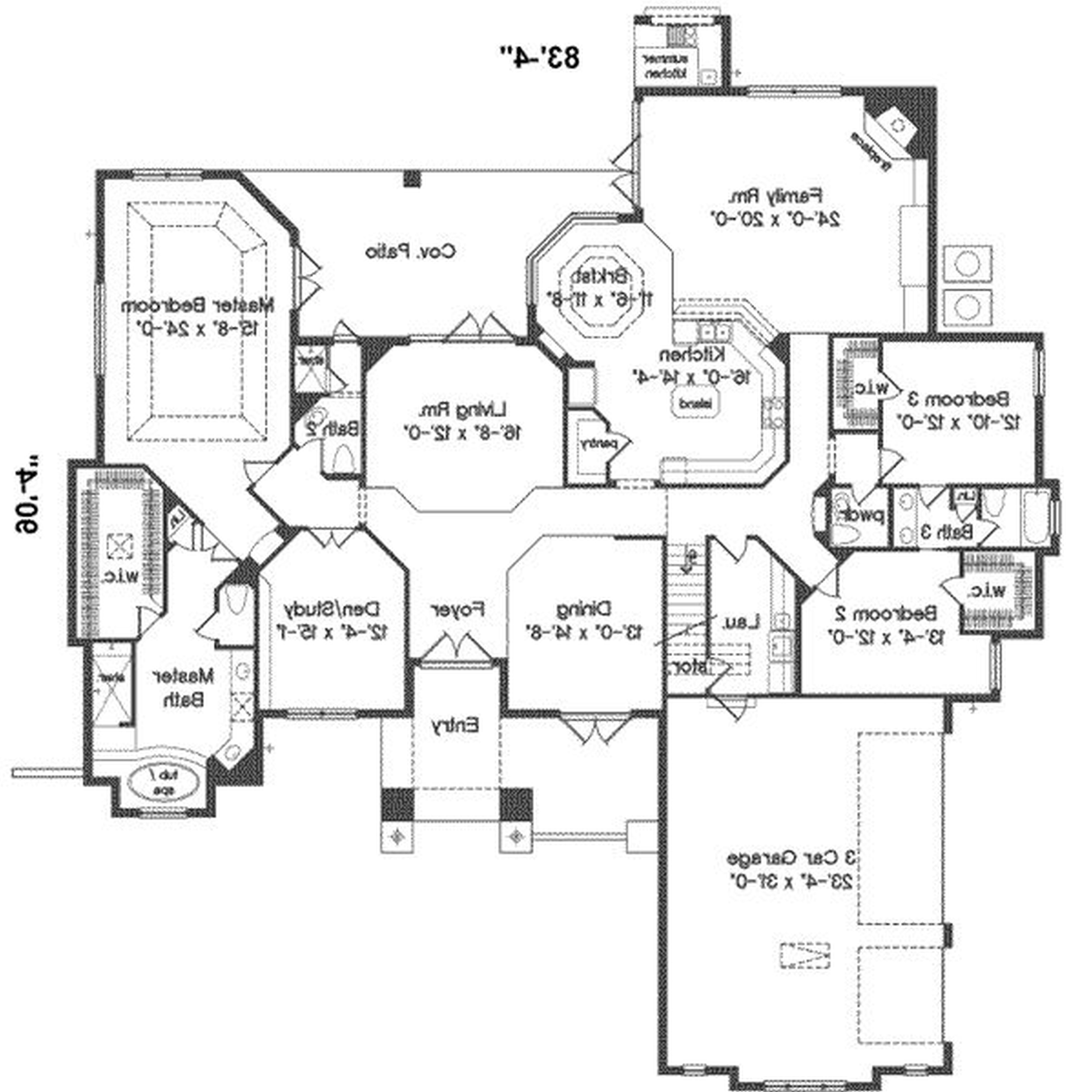 5000x5000 Modern 4 Bedroom House Plans Australia