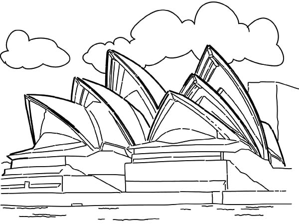 600x449 Opera House Sidney Australia Worldwonders Coloring Pages Batch