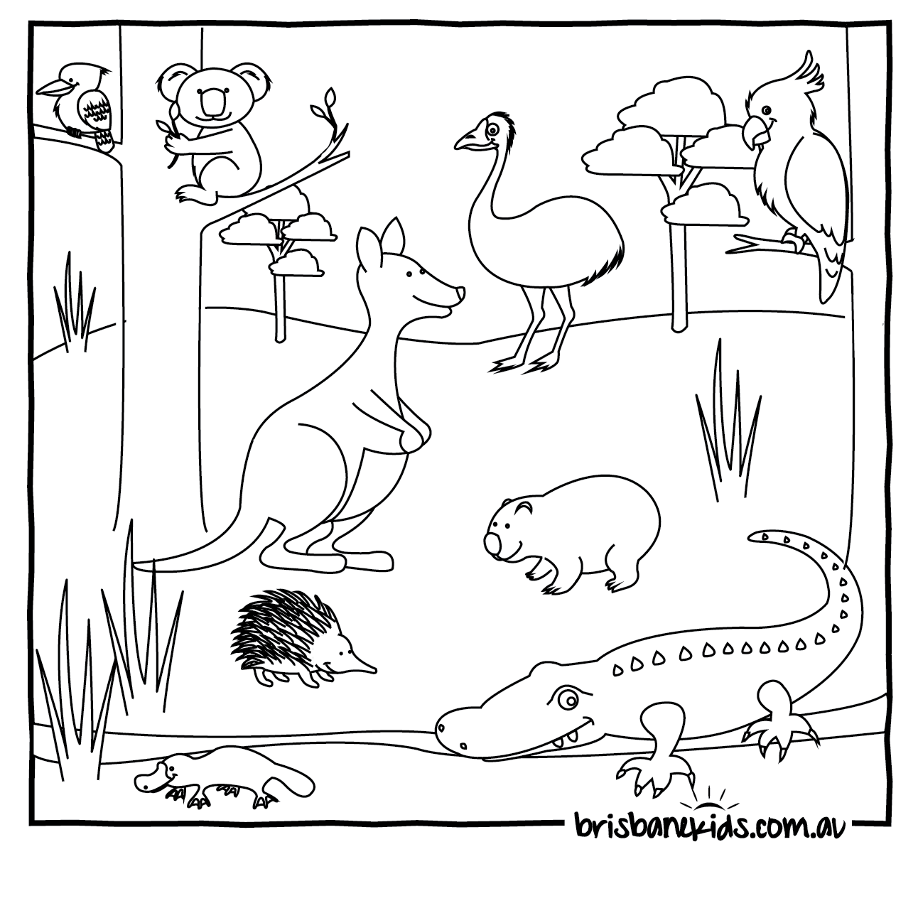 1292x1292 Australia Coloring Pages Coloring Page For Kids