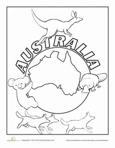 230x297 Australia Coloring Page Worksheets And Social Studies