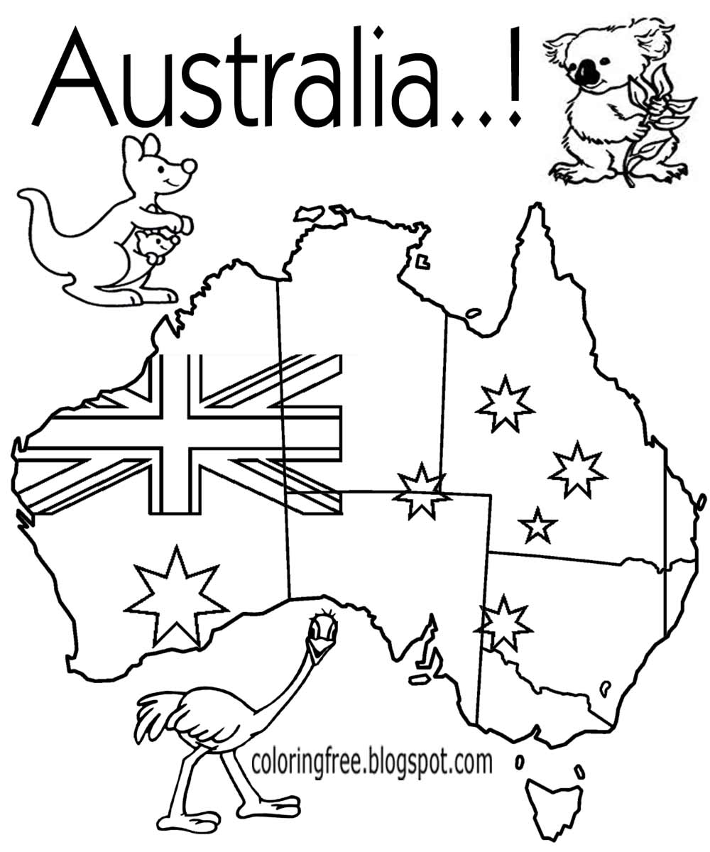 Australia map drawing at free for for Australia map coloring page